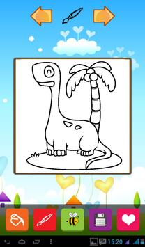 Cute Dinosaur Coloring Games poster