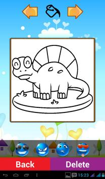 Cute Dinosaur Coloring Games screenshot 1