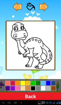 Cute Dinosaur Coloring Games screenshot 2