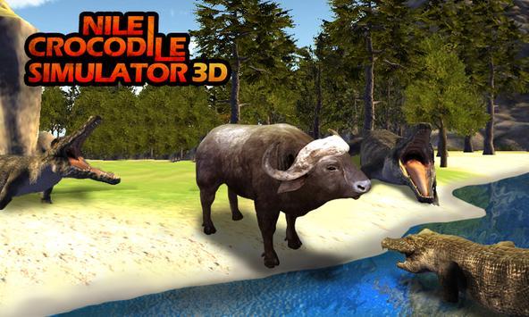 Nile crocodile Simulator 3D poster