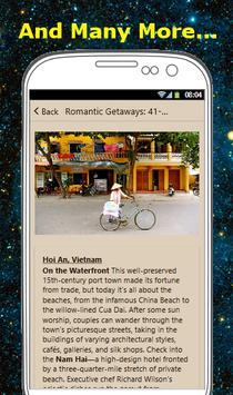 ROMANTIC GETAWAYS apk screenshot