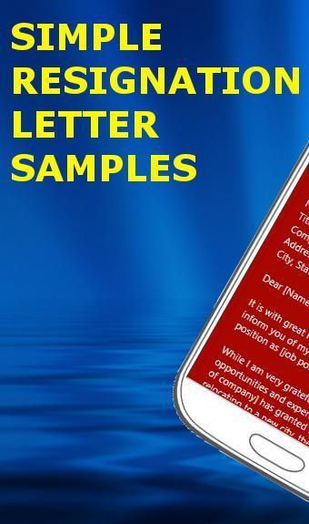 Simple Resignation Letter Samples For Android Apk Download