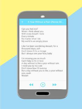 Selena Gomez Songs & Lyrics apk screenshot