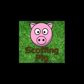 Scoffing Pig poster