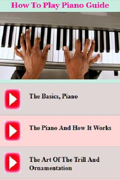 How To Play Piano Guide poster