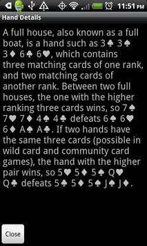 Poker Hands screenshot 1
