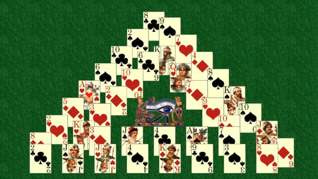 Pyramid solitaire poster