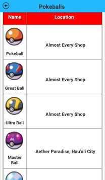 Sun&Moon items Location guide poster