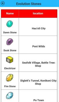 Sun&Moon items Location guide apk screenshot