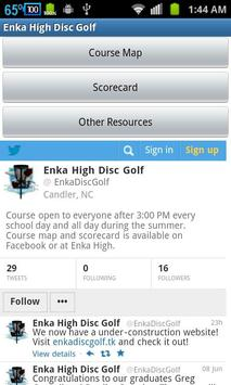 Enka High Disc Golf poster