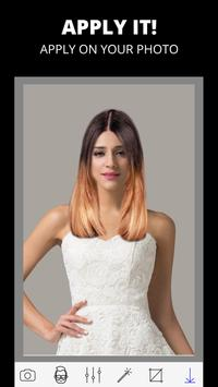 Woman hairstyle photo editor poster