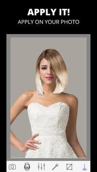 Woman hairstyle photo editor screenshot 1