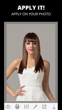 Woman hairstyle photo editor screenshot 2