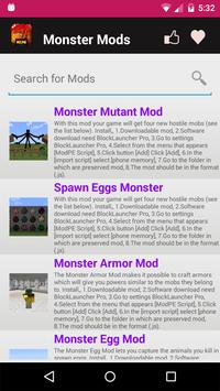 Monster Mod For MCPE. screenshot 5