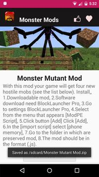 Monster Mod For MCPE. screenshot 3
