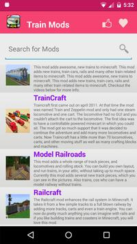 Train Mod For MCPE. screenshot 1
