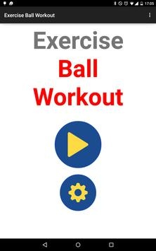 Exercise Ball Workout Routine poster