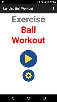 Exercise Ball Workout Routine apk screenshot