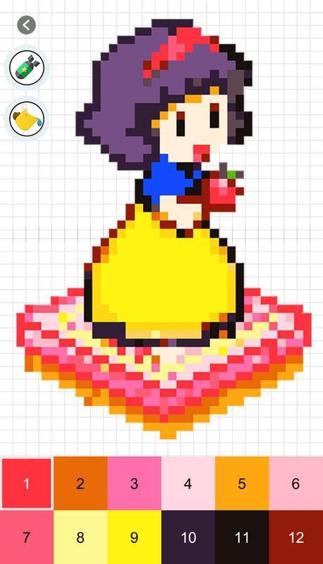 Pixel art color by number apk