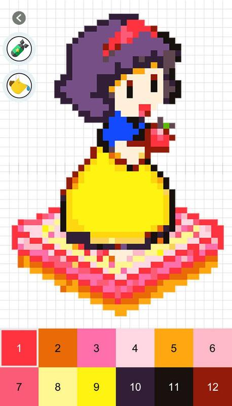 how to create a pixel art colour by number app