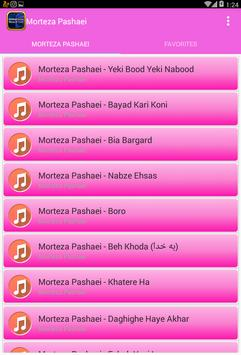 All Morteza Pashei Songs Lyrics screenshot 1