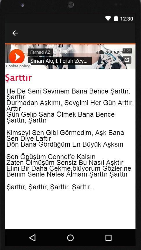 Android Icin Sinan Akcil Sarttir Mp3 Apk Yi Indir