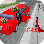 Limo Taxi Car City Driving icon