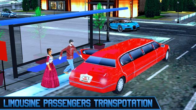 Limo Taxi Car City Driving poster