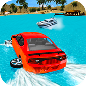 Water Surfer Car Driving icon