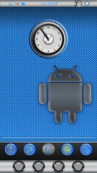 BLUE GINIRO APEX/NOVA/ADW EX apk screenshot