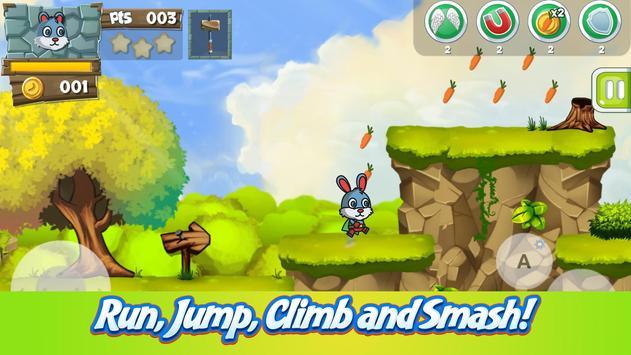 Fluffy Bunny Carrot Running apk screenshot