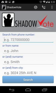 ShadowVote Lookup Caller ID poster
