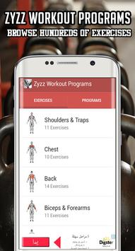 Zyzz Workout Program Poster