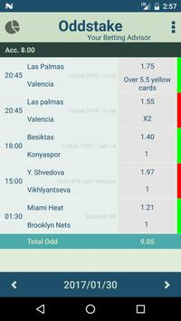 Oddstake - Daily betting tips with high odds apk screenshot