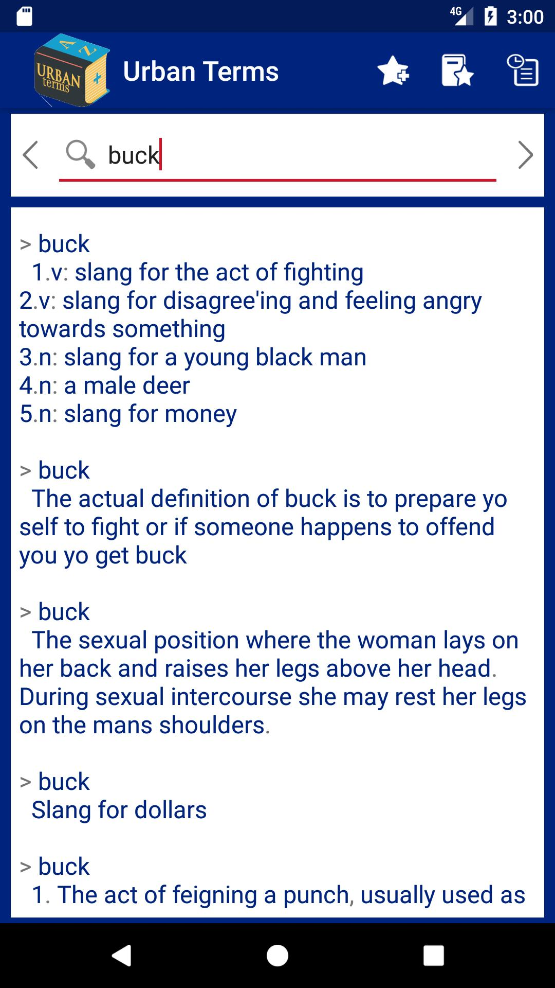 Urban slang words and meanings