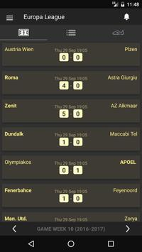 Scores - UEL - Europe Football League UEFA - Live poster