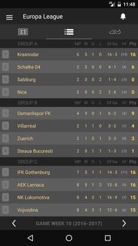 Scores - UEL - Europe Football League UEFA - Live screenshot 1