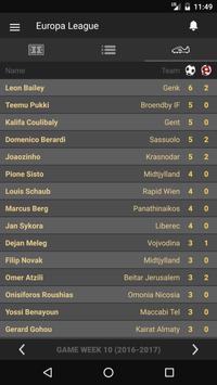 Scores - UEL - Europe Football League UEFA - Live apk screenshot
