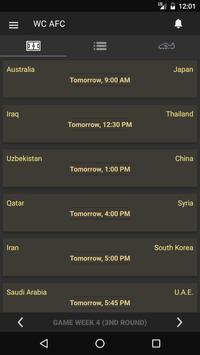 Scores - Asia World Cup Qualifiers - AFC Football poster