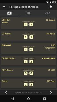 Scores - Ligue Professionnelle - Algeria Football screenshot 1