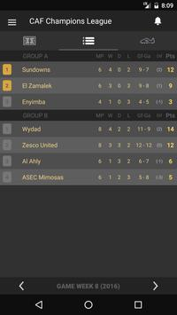 Scores - CAF Champions League - Africa Football apk screenshot
