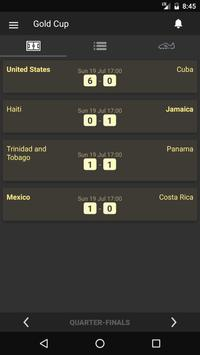 Scores - 2017 Gold Cup - USA Concacaf Edition apk screenshot