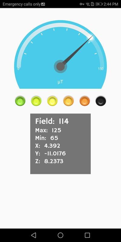 Emf detector & emf meter magnetic field detector for android.