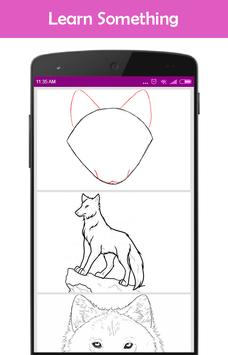 How to draw a Wolf poster