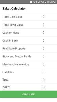 Zakat Calculator screenshot 1