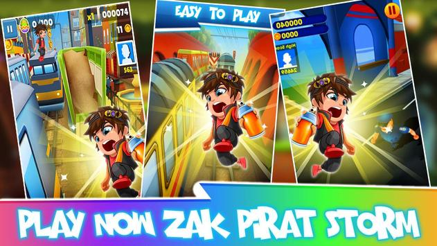 Subway Zak Hero - Pirat Storm screenshot 4