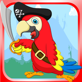 Angry flappy parrot icon