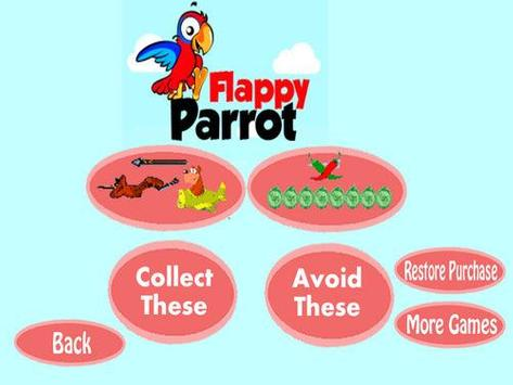 Angry flappy parrot poster