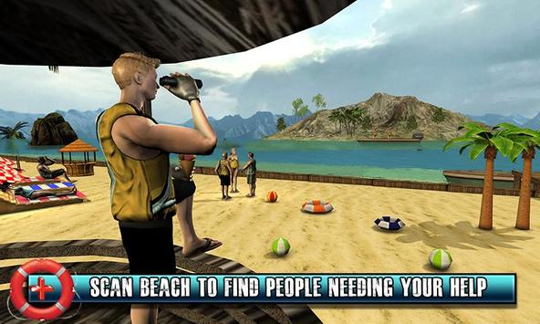 Beach Rescue Lifeguard Game poster