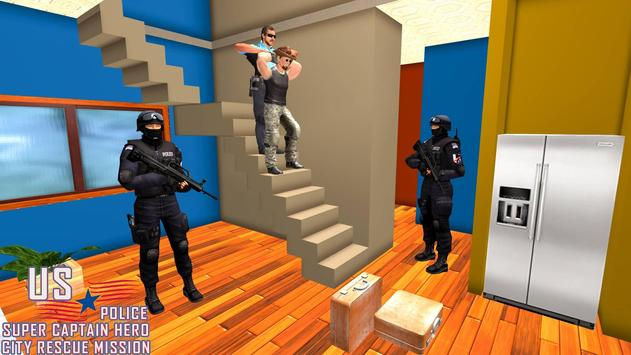 US Police Super Captain Hero City Rescue Mission screenshot 5